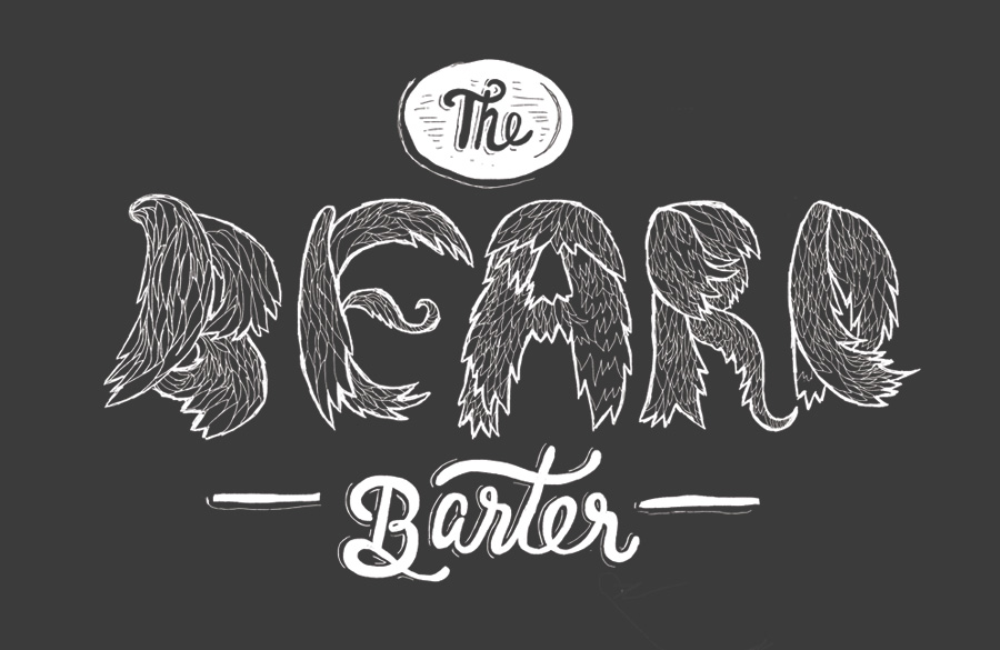 The Beard Barter film title by Karli Ingersoll